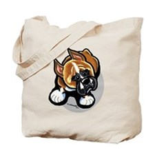 Funny Boxer Cartoon Tote Bag