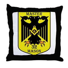 32nd degree Master Masons Eagle Throw Pillow