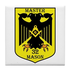 32nd degree Master Masons Eagle Tile Coaster