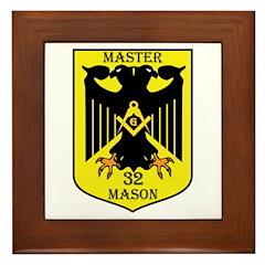 32nd degree Master Masons Eagle Framed Tile