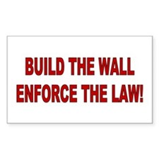 Build the Wall Enforce the Law Decal