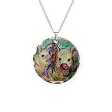 Pig, Pair Necklace