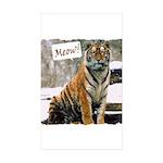 Tiger Meow Sticker (Rectangle 10 pk)