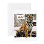 Tiger Meow Greeting Card