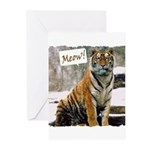 Tiger Meow Greeting Cards (Pk of 10)