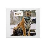 Tiger Meow Throw Blanket