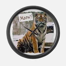 Tiger Meow Large Wall Clock