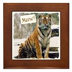 Tiger Meow Framed Tile