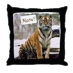 Tiger Meow Throw Pillow