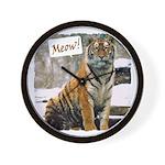 Tiger Meow Wall Clock