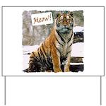 Tiger Meow Yard Sign