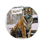 Tiger Meow Ornament (Round)