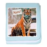 Tiger Meow baby blanket