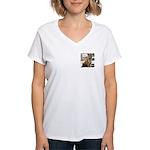 Tiger Meow Women's V-Neck T-Shirt