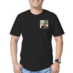 Tiger Meow Men's Fitted T-Shirt (dark)