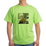Tiger Meow Green T-Shirt
