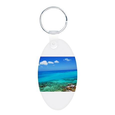 Bermuda Coast Aluminum Oval Keychain