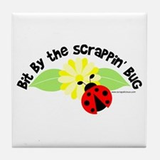 Bit By The Scrappin' Bug Tile Coaster
