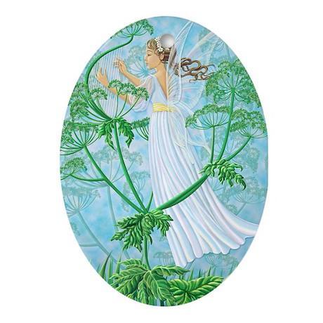 Fairy Music Oval Ornament