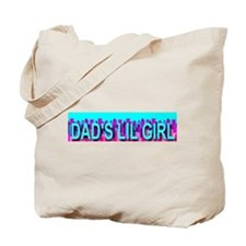 Dad's Lil Girl Skyline Tote Bag