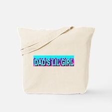 Dad's Lil Girl Skyline Tote Bag