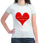 Love My Firefighter Jr. Ringer T-Shirt