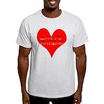 Love My Firefighter Ash Grey T-Shirt