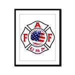AAFF Firefighter Framed Panel Print