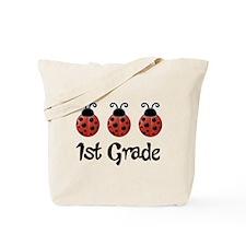 1st Grade School Ladybug Tote Bag