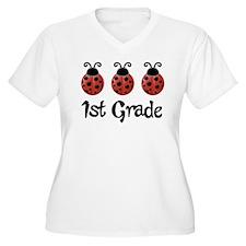 1st Grade School Ladybug T-Shirt