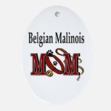 Belgian Malinois Mom Oval Ornament