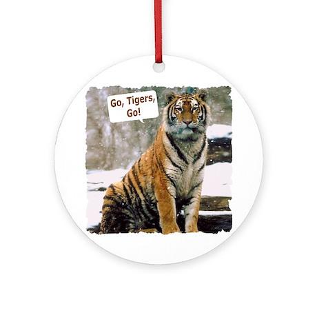 Go Tigers, Go! Ornament (Round)