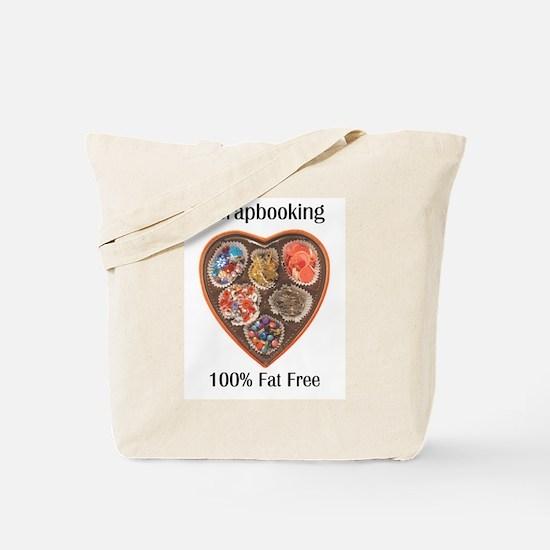 scrapbooking 100% Fat Free Tote Bag
