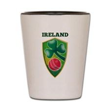 Cricket Ball Ireland Shot Glass