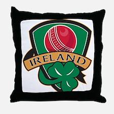 Cricket Ball Ireland Throw Pillow