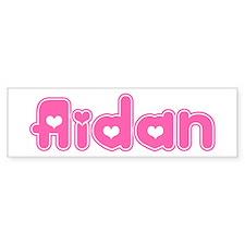 """""""Aidan"""" Bumper Bumper Sticker"""