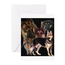 GSD collage Greeting Cards (Pk of 10)