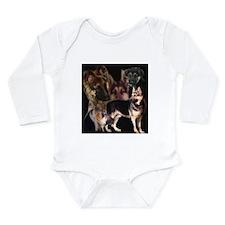 GSD collage Long Sleeve Infant Bodysuit