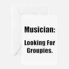 Musician Groupies Greeting Card