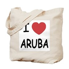 I heart aruba Tote Bag