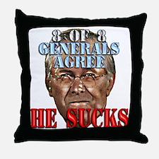 Rumsfeld Sucks say Generals Throw Pillow