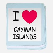 I heart cayman islands baby blanket