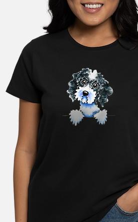 Black Parti Cockapoo Lined T-Shirt