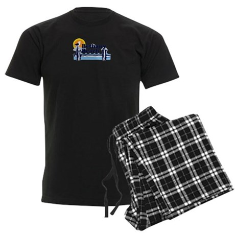 Bethany Beach DE - Pier Design. Men's Dark Pajamas