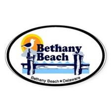 Bethany Beach DE - Pier Design. Decal