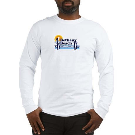 Bethany Beach DE - Pier Design. Long Sleeve T-Shir