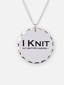I KNIT... Necklace