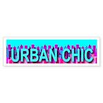 Urban Chic Skyline Bumper Sticker