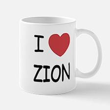 I heart zion Mug