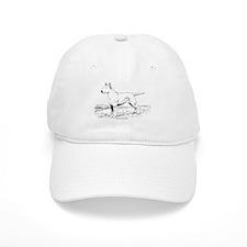 White Bull Terrier Baseball Cap